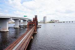 Free Jacksonville Downtown Bridge Royalty Free Stock Photos - 101652248
