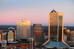 Jacksonville Fl horisont Arkivfoton