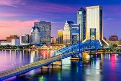 Jacksonville FL horisont Arkivbild