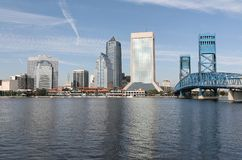 Jacksonville, Florida. The downtown skyline of Jacksonville, Florida on a bright sunny day