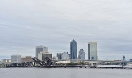 Jacksonville Florida Downtown. Jacksonville is the most populous city in Florida, the most populous city in the southeastern United States and the largest city stock image