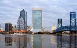 Jacksonville Florida horisont royaltyfria bilder