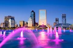 Jacksonville Florida i stadens centrum horisont royaltyfri foto