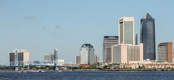Jacksonville Florida. The Jacksonville Florida Skyline from across the St. Johns River. (2016 stock photography
