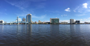 Jacksonville Florida. The Jacksonville Florida Skyline from across the St. Johns River. (2016 royalty free stock photos