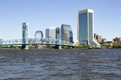 Jacksonville, Florida Skyline and river royalty free stock image