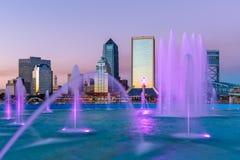 Jacksonville Florida Skyline Stock Photography