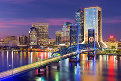 Jacksonville, Florida Skyline Royalty Free Stock Photos