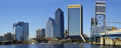 Landscape of Jacksonville downtown in Florida, USA royalty free stock photos