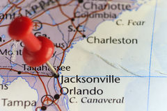 Jacksonville, Florida, USA. Jacksonville, Florida, United States. Copy space available Royalty Free Stock Photography