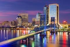 Jacksonville, Floryda linia horyzontu zdjęcia royalty free