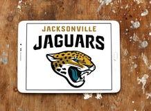Jacksonville Jaguars american football team logo. Logo of Jacksonville Jaguars american football team on samsung tablet. The Jacksonville Jaguars are an American Stock Photos