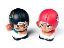 Jacksonville Jaguars and Kansas City Chiefs Li`L Teammate Toy.  stock image