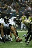 Jacksonville Jaguars VS New Orleans Saints. The Jaguars offense lines up against the Saint defense during the Jaguars VS Saints game in the New Orleans LA Royalty Free Stock Photos