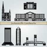 Jacksonville landmarks and monuments Stock Photo