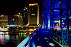Jacksonville Lights in the Night Royalty Free Stock Image