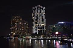 Jacksonville-Nachtlichter Lizenzfreies Stockfoto