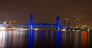 Jacksonville at nigh stock photos