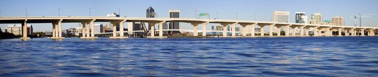 Jacksonville panorámica Imágenes de archivo libres de regalías