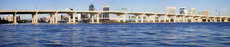 Jacksonville panorâmico Imagens de Stock Royalty Free