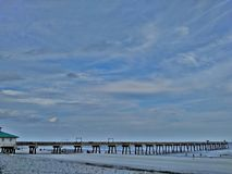 Jacksonville plaża, Floryda molo zdjęcie royalty free