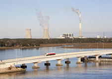 Jacksonville Power Plant Royalty Free Stock Photos