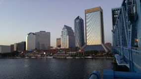 Jacksonville. 's north bank from the Main St.  Bridge Stock Photos
