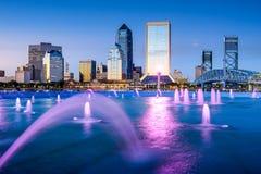 Jacksonville-Skyline Lizenzfreies Stockbild