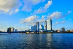 Jacksonville skyline evening in florida USA Royalty Free Stock Photo
