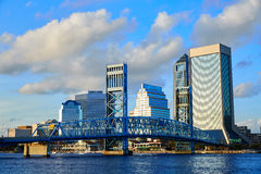 Jacksonville skyline evening in florida USA Stock Photos