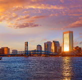 Jacksonville skyline evening in florida USA Royalty Free Stock Images