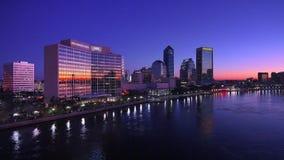 Jacksonville Skyline stock video footage