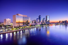Jacksonville Skyline Stock Photography