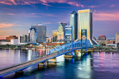 Jacksonville Skyline View Stock Photography