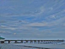 Jacksonville strand, Florida pir royaltyfri foto