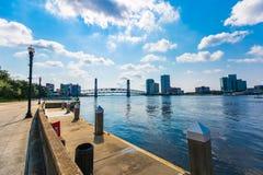 Jacksonville Waterfront. Waterfront walk in Jacksonville, Florida Stock Photo