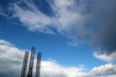 Jackup rig with clouds Royalty Free Stock Images
