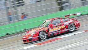 Jacky Yeung racing at Porsche Carrera Cup Asia Royalty Free Stock Photos