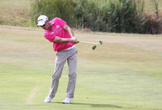 Jaco van Zyl at the golf french open 2015. GUYANCOURT , FRANCE, JULY 05, 2015 : Jaco Van Zyl ( afs ) During the fourth round of the French Open, European golf Royalty Free Stock Image