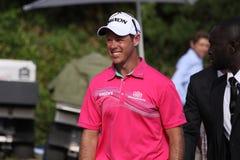Jaco van Zyl på golffransmannen öppnar 2015 Arkivfoton