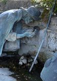 Jacob's Well, statue in Rosenberg, Germany. Jacob's Well, statue by Sieger Koder in Rosenberg, Germany stock image