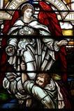 Jacob brottning med ängeln av guden Arkivbilder