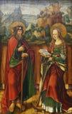 Jacob Cornelisz van Oostsanen: St James Elder och Catherine av Alexandria arkivbild