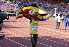 JACOB KIPLIMO van de winstzilver van Oeganda in 10,000m bij de IAAF-Wereldu20 Kampioenschappen in Tampere, Finland op 10 Juli, 20 Royalty-vrije Stock Afbeeldingen