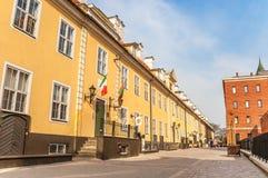 Jacob Koszaruje w dziejowym centrum Ryski zdjęcie royalty free