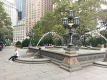 Jacob Mould Fountain in Manhattan, New York City Stockbilder
