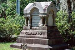 Jacob Paulsen Cemetery Statuary Statue Bonaventure Cemetery Savannah Georgia imágenes de archivo libres de regalías
