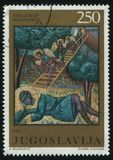 Jacob`s Ladder by Hristofor Zefarovic. RUSSIA KALININGRAD, 12 NOVEMBER 2016: stamp printed by Yugoslavia, shows Jacob`s Ladder by Hristofor Zefarovic, circa 1970 Royalty Free Stock Images