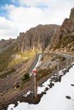 Jacob`s Ladder Road. The infamous Jacob`s Ladder road climb at Ben Lomond, Tasmania, Australia Stock Image