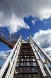 Jacob's Ladder in Sidmouth. Wooden structure called Jacob's Ladder in Sidmouth Royalty Free Stock Images
